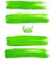 Bright green acrylic brush strokes vector