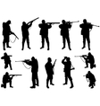 Hunters silhouettes vector