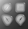 Brush glass buttons vector