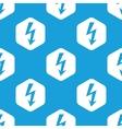 Voltage lightning hexagon pattern vector