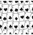 Playing cards seamless background pattern vector
