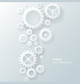 Modern abstract industrial gear background vector
