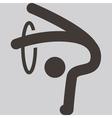 Gymnastics rhythmic icon vector