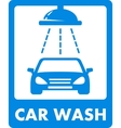 Blue car wash icon vector