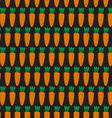 Seamless pattern with carrots vector