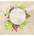Leaves frame background vector