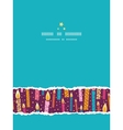 Colorful birthday candles vertical torn seamless vector