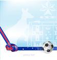 Australian background soccer ball vector