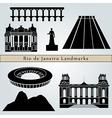 Rio de janeiro landmarks and monuments vector