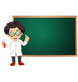 Scientist in classroom vector