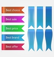 Set of sale ribbons vector
