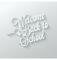 Back to school paper cut lettering background vector
