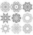 Set circle 1color 6 380 vector