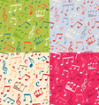 Set of seamless music patterns vector