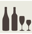 Wine bottle sign set bottle icon vector