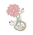 Flower vintage doodle florals vector