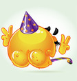 Lost shame smile birthday naked in a festive hat vector