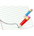 Note paper with sketch speech bubble vector
