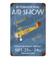 Vintage air show poster design vector