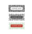 Flower shop florist labels vector