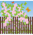 Fence background vector