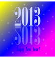 2013 - happy new year colorful background vector