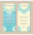 Invitation vintage cards blue vector