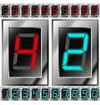Set of electronic digits vector