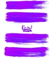 Bright violet acrylic brush strokes vector