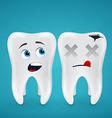 Healthy teeth and dead vector