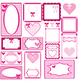Set of cute pink frames for girls vector