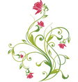 Floral vine graphic vector