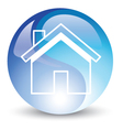 Blue house vector