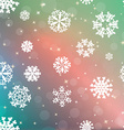 New year blur background with snowflakes vector