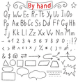 Handwritten letters number characters shapes vector