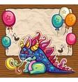 Cute dragon vector