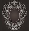 Ova ornate frame vector