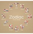Multicolored zodiac symbol icons vector
