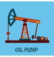 Isolated flat oil pump icon vector