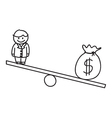 Money financial balance vector
