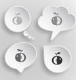 Apple white flat buttons on gray background vector