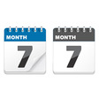 Calender icons vector