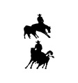 Rodeo cowboy horse riding silhouette vector