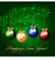 2014 - christmas tree with colorful decorations vector
