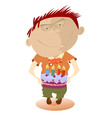 Child with a cake vector