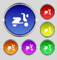 Scooter bike icon sign round symbol on bright vector