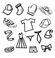 Clothes simple shapes collection vector