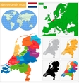 Netherlands map vector