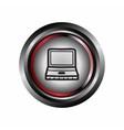Computer glossy web icon symbol vector
