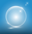 Transparent glass ball on blue backgroundeps10 vector